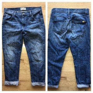 Wildfox Marissa Boyfriend Fit Jeans Cropped Cuffed